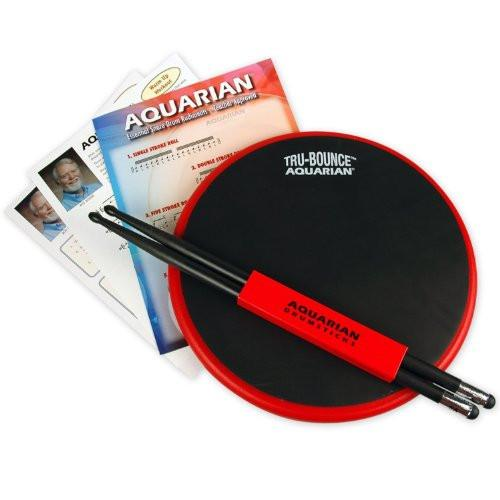 "Aquarian 12"" Tru-Bounce Practice Pad w/ Practice Sticks, Rudiment Chart & ""First Step"" Elementary Snare Studies by Roy Burns"