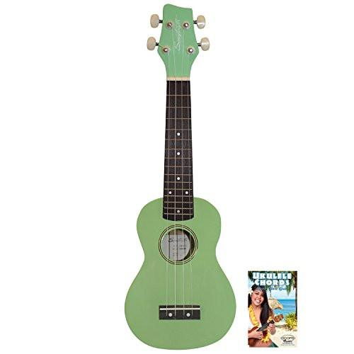 Sawtooth Surf Green Soprano Ukulele with Quick Start Guide