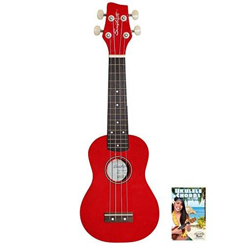 Sawtooth Red Soprano Ukulele with Quick Start Guide