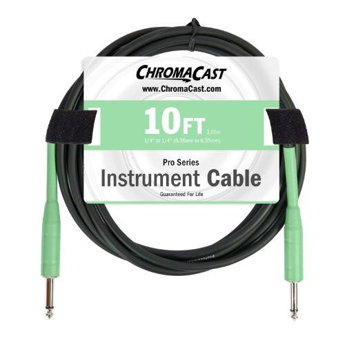 ChromaCast Pro Series Cables CC-PSCBLSS-10SGR Surf Green 10-Feet Pro Series Instrument Cable, Straight - Straight