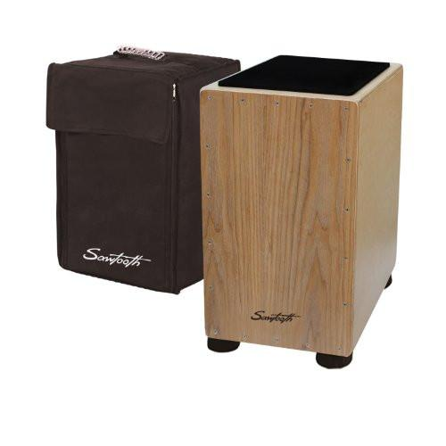 Sawtooth Ash Wood Cajon with Maple Back & Sides with Padded Seat Cushion & Carry Bag