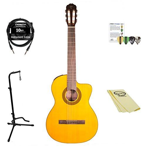 Takamine GC3CE NAT-KIT-1 Classical Guitar Kit with Accessories, Natural