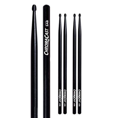 ChromaCast 5AB USA Black Hickory Drumsticks 3 Pairs