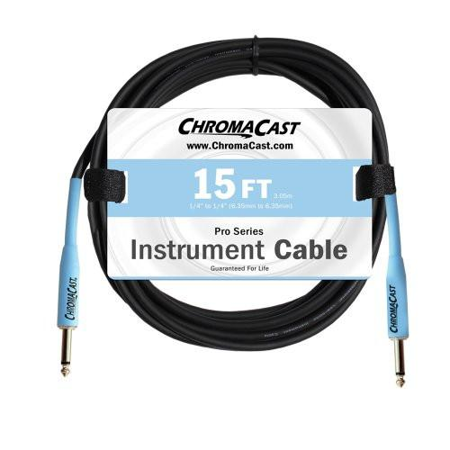 ChromaCast Daphne Blue 15ft Pro Series Instrument Cable, Straight - Straight