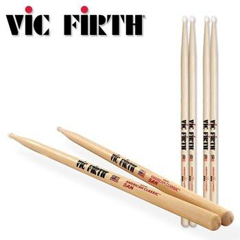 Vic Firth American Classic 5AN Drum Sticks (NYLON TIP) - 2 Pair