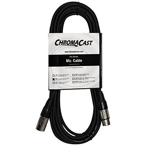 ChromaCast Pro Series Mic Cable 20 Feet, Black, XLR/XLR Ends