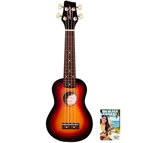 Sawtooth ST-UKE-BSSB-KIT-1 Soprano Ukulele with Quick Start Guide, Sunburst