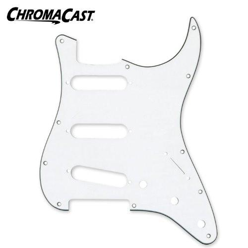 ChromaCast 3 Ply White Stratocaster Pickguard