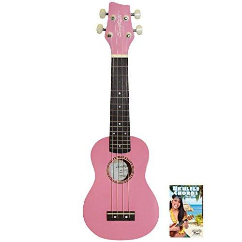 Sawtooth Pink Soprano Ukulele with Quick Start Guide