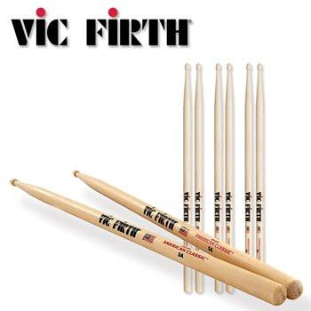 VIC FIRTH (3 Pair) 5A Drum Sticks - American Classic