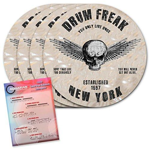 ChromaCast Drum Freak Drink Coasters with Aquarian Drum Rudiments