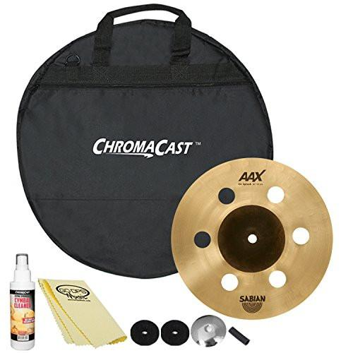 "SABIAN AAX 10"" Air Splash (21005XA) with ChromaCast 20"" Cymbal Bag & Accessories"