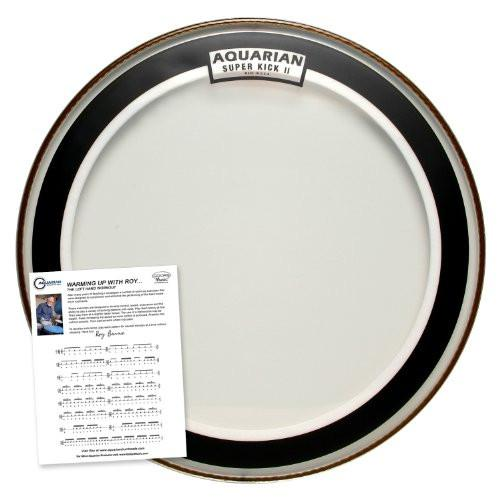 "Aquarian 16"" Clear Double Ply Super Kick Bass Drumhead"