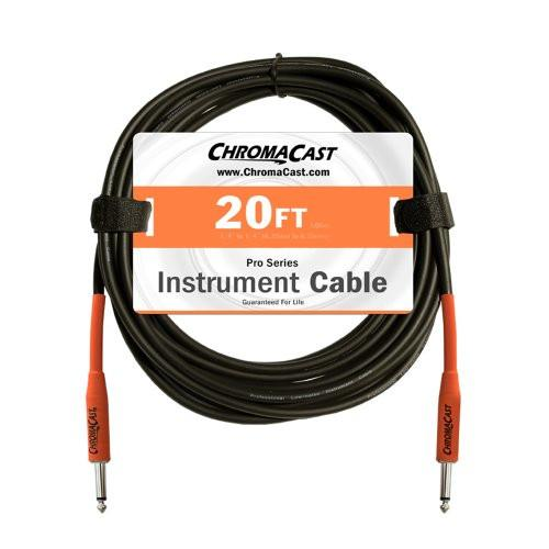ChromaCast Pro Series Cables CC-PSCBLSS-20SOR Sunset Orange 20-Feet Pro Series Instrument Cable, Straight - Straight