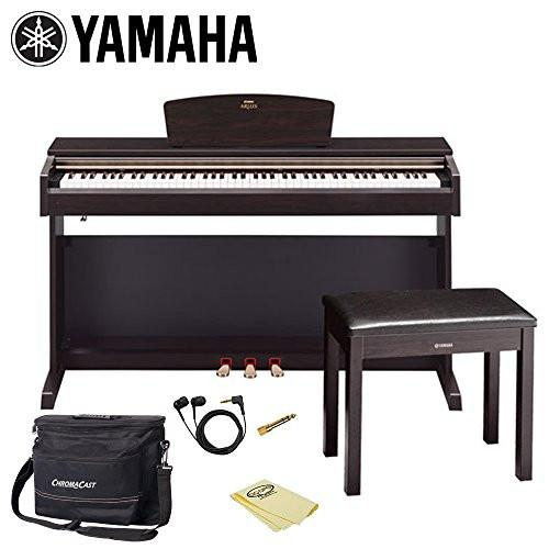 Yamaha YDP-162-R 88-Key Digital Piano with Piano Bench, Headphones, Musician's Bag and Polish Cloth