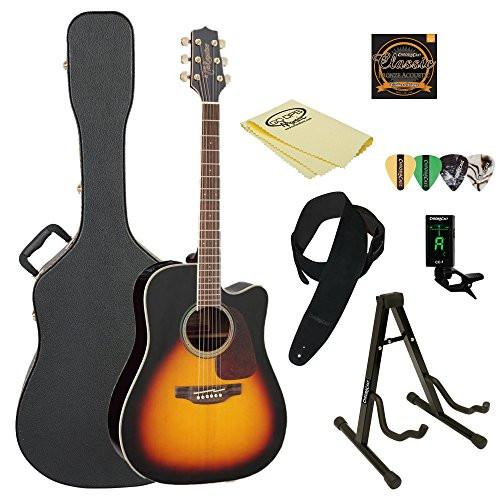 Takamine GD71CE BSB Dreadnought Cutaway Acoustic-Electric Guitar, Sunburst, with ChromaCast Hard Case & Accessories