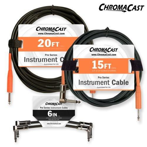 ChromaCast Stage Ready Cable Pack - Includes: 20ft Cable, 15ft Cable & 6in Patch Cable