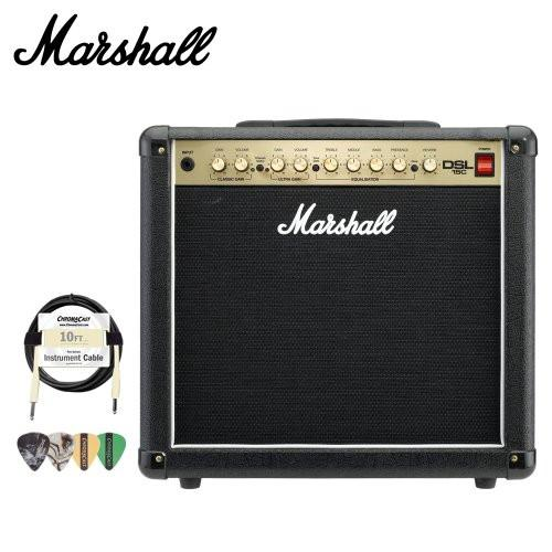 Marshall DSL15C DSL Series 15-Watt Guitar Combo Amp Kit - Includes Cable & Pick Sampler