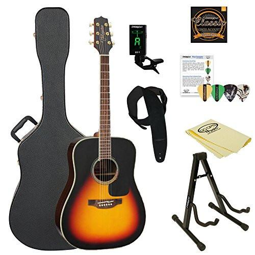 Takamine GD51-BSB Dreadnought Acoustic Guitar, Sunburst, with ChromaCast Acoustic Hard Case & Accessories