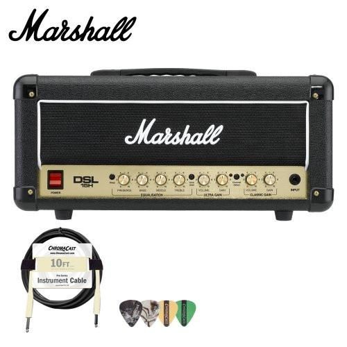 Marshall DSL15H 15W All-Tube Guitar Amp Head Kit - Includes Cable & Pick Sampler