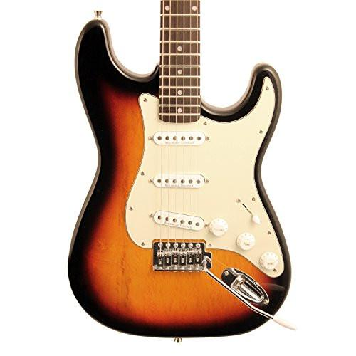 Sawtooth Americana Classic Series ES Electric Guitar, Sunburst with Mint Green 3-Ply Pickguard & Hardcase