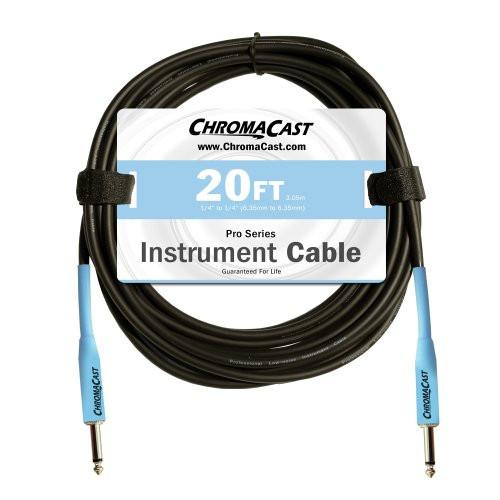ChromaCast Pro Series Cables CC-PSCBLSS-20DBL Daphne Blue 20-Feet Pro Series Instrument Cable, Straight - Straight
