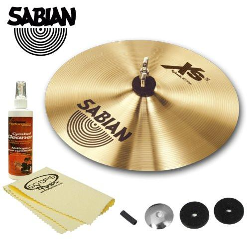 "Sabian 10"" Xs20 Splash Cymbal with Cymbal Felts, Sleeve, Cup washer, Cymbal Polish & GoDpsMusic Polish Cloth"
