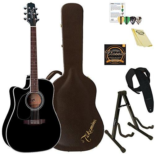 Takamine Left-Handed Solid Cedar Acoustic-Electric Guitar with Hard Case