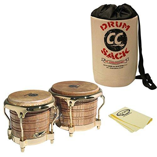 LP Latin Percussion LP793X Giovanni Galaxy Series Wood Bongos With Gold Tone Hardware Bongo Bag and Polish Cloth