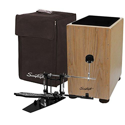 Sawtooth Ash Wood Cajon with Maple Back & Sides - Includes: Cajon, Padded Carry Bag, Cajon Pedal & Seat Pad