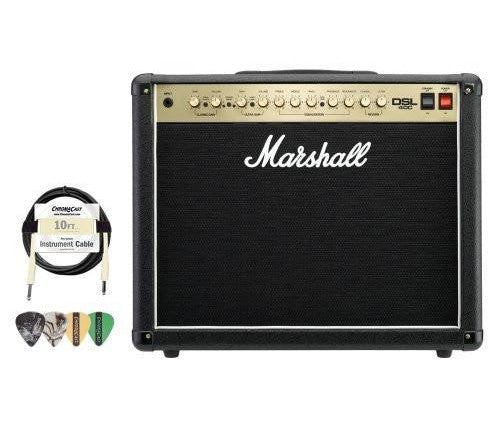 Marshall DSL40C 40W All-Tube 1x12 Guitar Amp Combo Kit - Includes Cable & Pick Sampler