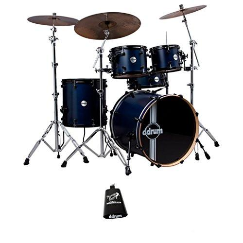 ddrum Reflex RSL Satin Blue 5-Piece Drum Kit - Cow Bell Included With Purchase