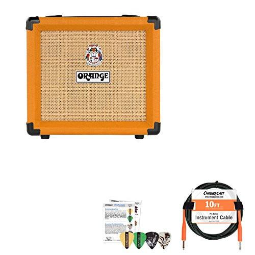 Orange Crush 12 Single Channel Combo Guitar Amp with Cable and Pick Sampler