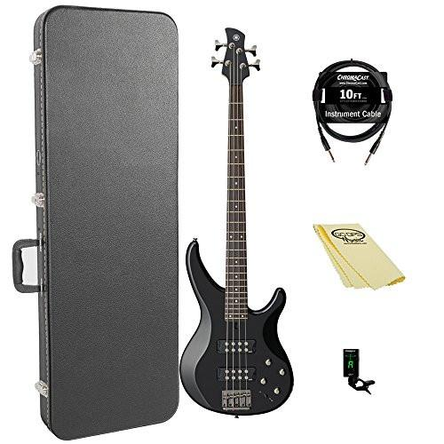 Yamaha TRBX304 BL-KIT-1 Electric Bass Guitar Kit with ChromaCast Hard Case and Accessories, Black