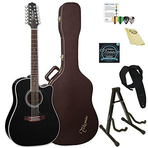 Takamine 12-String Dreadnought Acoustic-Electric Guitar with Hard Case