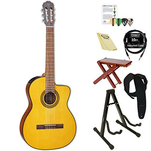 Takamine Classical Acoustic-Electric Guitar with ChromaCast Accessories, Natural