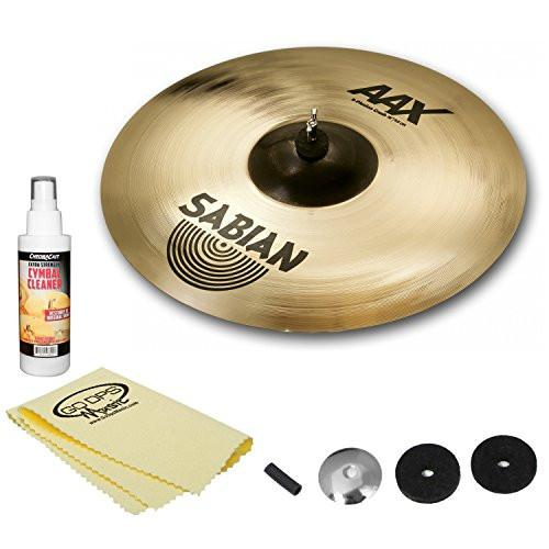 "Sabian 14"" AAX Stage Hats Brilliant Cymbal Kit - Includes: Cymbal Felts, Sleeve, Cup washer, Cymbal Cleaner & GoDpsMusic Polish Cloth"