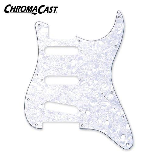 ChromaCast 3 Ply Pearloid White Stratocaster Pickguard