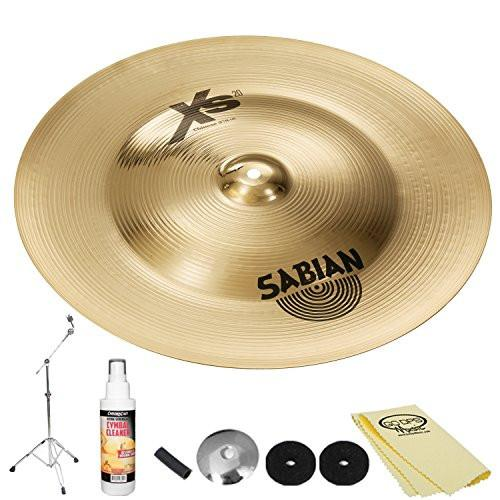 "Sabian XS20 18"" Chinese Brilliant Finish (XS1816B) with Hardware & ChromaCast Accessories"