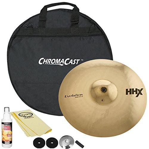 "Sabian 16"" HHX Evolution Crash 11606XEB with 20"" ChromaCast Cymbal Bag & Accessories"