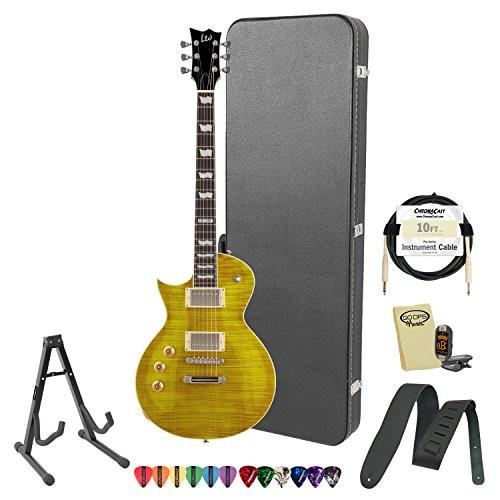 ESP LTD EC-256FM-LH-LD Flamed Maple Lemon Drop Left-Handed Electric Guitar w/ Accessories & Hard Case