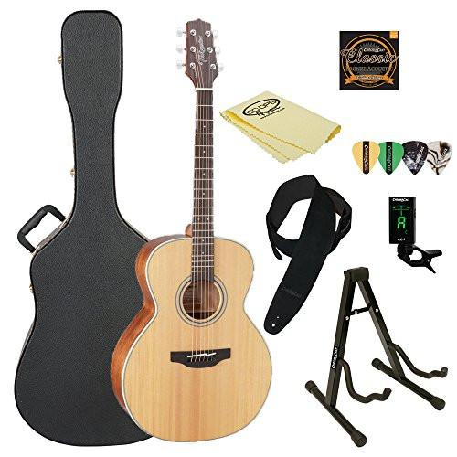 Takamine GN20 Nex Acoustic Guitar, Natural, with ChromaCast Acoustic Hard Case & Accessories