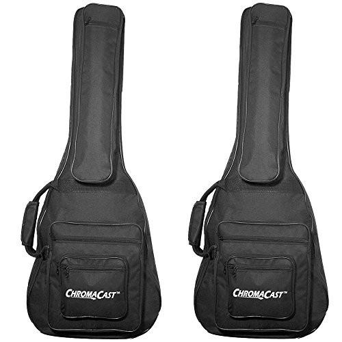 ChromaCast 3/4 size Acoustic Guitar Padded Gig Bag, 2 Pack