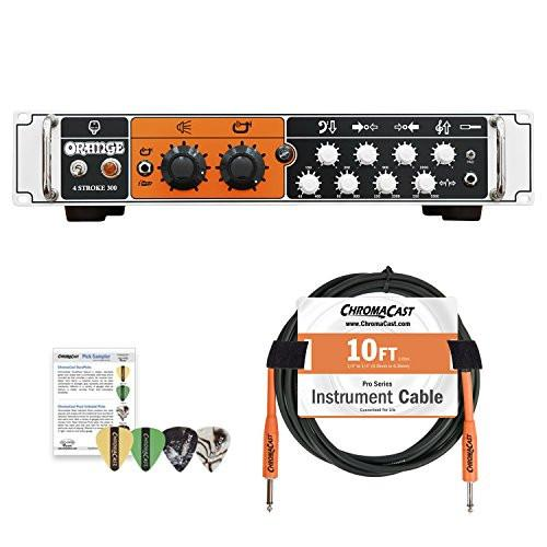 Orange 4-STROKE-300 Class AB Solid State Bass Amplifier Rackmountable Head with ChromaCast Accessories