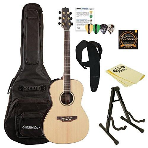 Takamine GY93E New Yorker Acoustic-Electric Guitar, with ChromaCast Gig Bag & Accessories