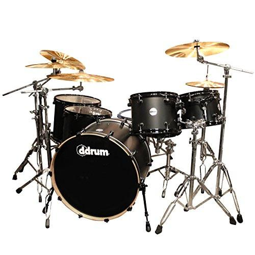 ddrum Vinny Appice Reflex RSL Powerhouse Black Satin 6-Piece Drum Set
