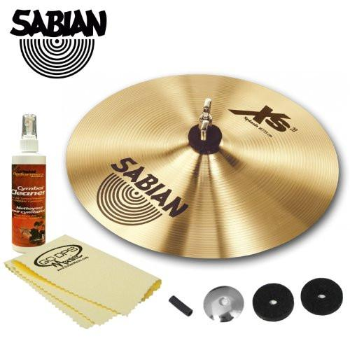 "Sabian 12"" Xs20 Splash Cymbal Kit (XS1205) with Cymbal Felts, Sleeve, Cup washer, Cymbal Polish & GoDpsMusic Polish Cloth"