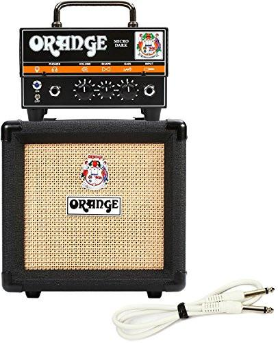 Orange Micro Dark Terror Hybrid Amp Head Mini Stack Combo w/ Cabinet and Speaker Cable