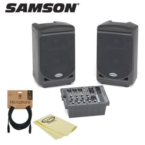 Samson Expedition XP150 Portable PA Kit (XP150) - Includes: 25ft Mic Cable & GoDpsMusic Dust Cloth