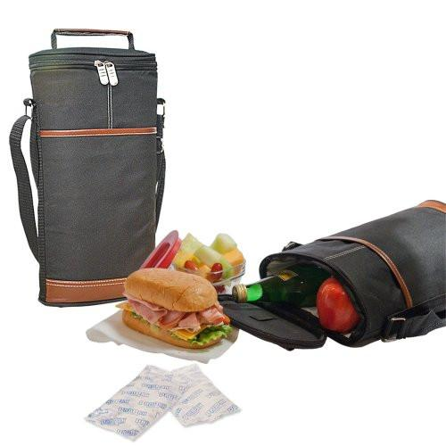 Insulated Outdoor Cooler Travel Bag with Refrigerant Gel Packs - Perfect for Sports, Camping, Picnics & More